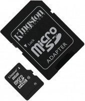 Kingston microSDHC 8Gb Class 10 + SD adapter